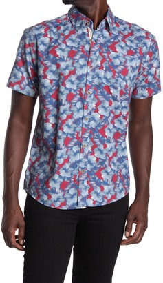 Natural Blue Visitor Short Sleeve Hawaiian Shirt