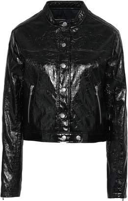 Rag & Bone Toni Cropped Cracked Patent-leather Jacket