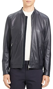 Theory Morrison Benji Slim Fit Leather Jacket