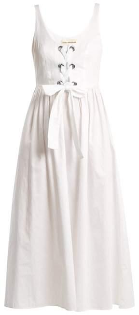 Mara Hoffman Athena Lace Up Cotton Dress - Womens - White