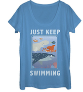 Fifth Sun Finding Dory 'Just Keep Swimming' Scoop-Neck Tee - Women