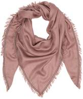 Brunello Cucinelli Embellished cashmere-silk blend scarf