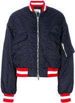 MSGM patch pocket bomber jacket