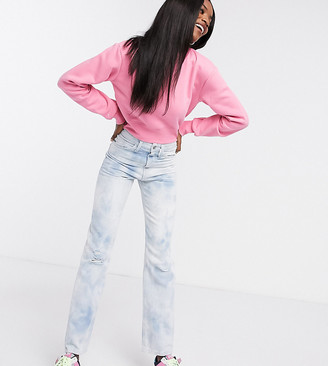 Collusion x000 Unisex 90's straight leg jeans in washed tie dye