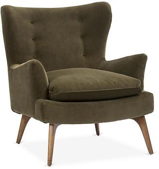 Kim Salmela Sonja Chair - Olive Velvet