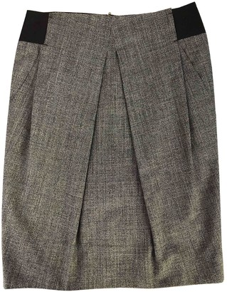 Sand Grey Wool Skirt for Women