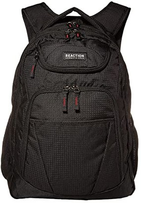 Kenneth Cole Reaction 17Tribute Multi-Pocket Laptop Tablet Business Travel Backpack (Black) Backpack Bags