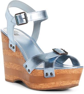Anna Sui Karlie Metallic Platform Wedge Sandal