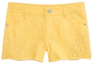 Epic Threads Big Girls Crochet Inset Shorts, Created for Macy's