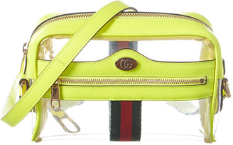 Gucci Ophidia Mini Vinyl & Leather Crossbody