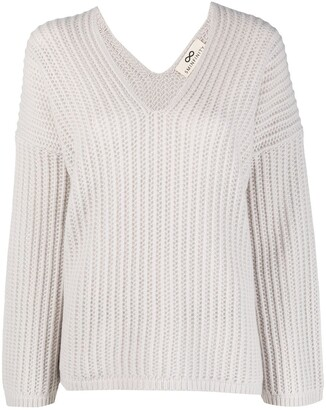 Sminfinity Ribbed-Knit Cashmere Jumper