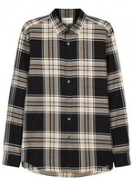 Public School Samai Plaid Stretch Cotton Shirt