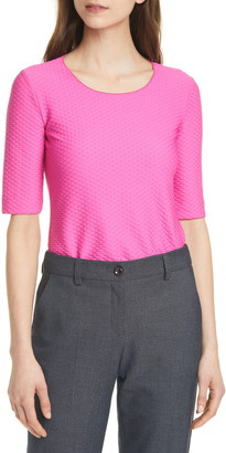Emporio Armani Textured Stretch Jersey Top