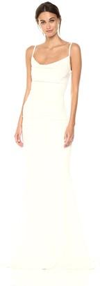 Nicole Miller Women's Hampton Lace Back Gown Dress