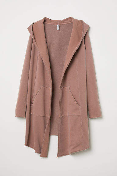 H&M - Hooded Sweatshirt Cardigan - Pink