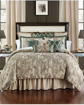Waterford Anora Brass/Jade Reversible 4Pc Comforter Set