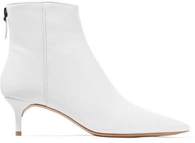 Alexandre Birman Kittie Leather Ankle Boots - White
