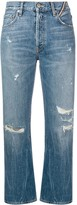 Atelier Jean cropped distressed jeans