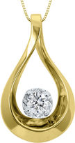 Sirena 1/10 CT. Diamond 10K Yellow Gold Teardrop Pendant Necklace