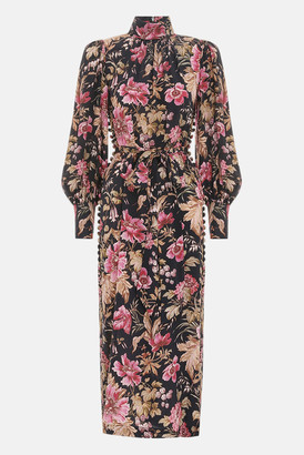 Zimmermann Mulberry Floral Lucky Sheath Dress
