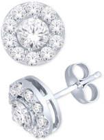 Macy's Diamond Round Halo Stud Earrings in 14k White Gold (1 ct. t.w.)