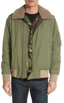 Rag & Bone Men's Flight Jacket With Genuine Shearling Collar