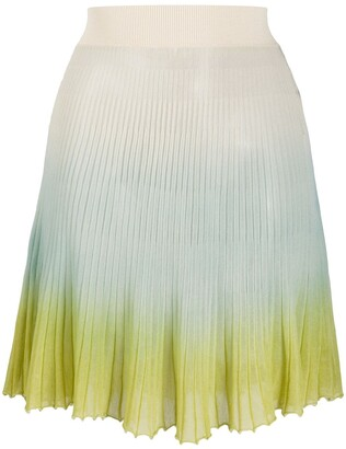 Jacquemus Helado gradient knitted skirt