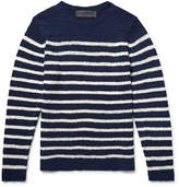 The Elder Statesman Picasso Striped Cashmere Sweater - Navy