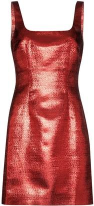 De La Vali Square Neck Shift Mini Dress