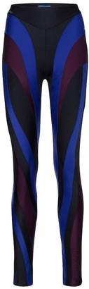 Thierry Mugler Spiral-printed leggings