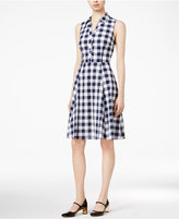 Maison Jules Cotton Gingham Shirtdress, Only at Macy's