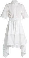 J.W.Anderson Butterfly-hem cotton-poplin dress