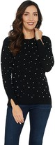 Isaac Mizrahi Live! 2-Ply Cashmere Faux Pearl Sweater