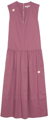 Tibi Eco Poplin Splitneck Dress in Light Huckleberry