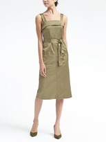 Banana Republic Belted Apron Midi Dress
