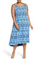 Sejour Plus Size Women's Print High/low Sundress