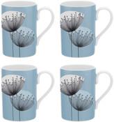Sanderson Dandelion Clocks Mugs - Set of 4