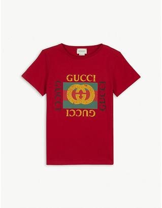 Gucci Logo print cotton T-shirt 4-10 years