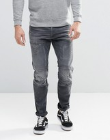 G Star G-Star 5620 3D Slim Jeans in Washed Gray