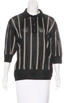 Lanvin Striped Knit Polo