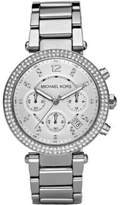 Michael Kors Parker Pave Stainless Steel Chronograph Bracelet Watch