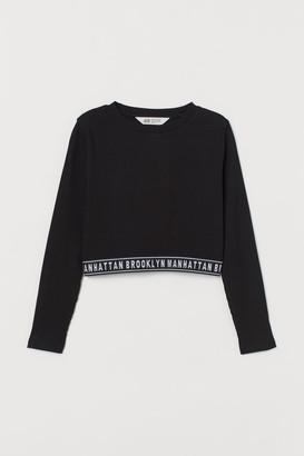 H&M Ribbed Top - Black