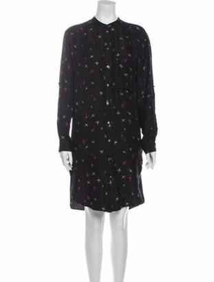 Etoile Isabel Marant Printed Knee-Length Dress Black