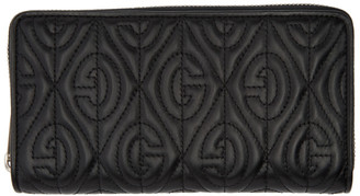 Gucci Black Quilted G Rhombus Wallet