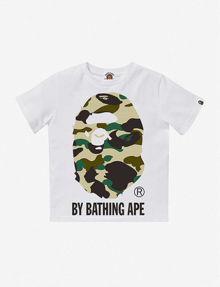 A Bathing Ape Logo camo-print cotton T-shirt 4-10 years
