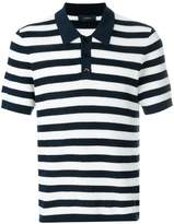 Joseph knit striped polo shirt