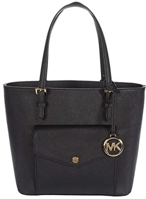 MICHAEL Michael Kors Jet Set Item Medium Pocket Multi Function Tote (Black) Handbags