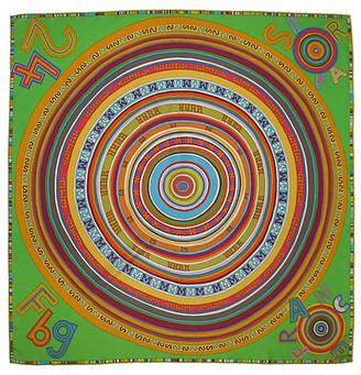 One Kings Lane Vintage Hermes Tohu Bohu Scarf w/Box - The Emporium Ltd. - green/orange/purple/red/yellow/blue/multi-color