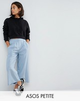 Asos Pleat Front Woven Culotte Pants