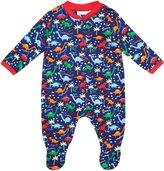 Jo-Jo JoJo Maman Bebe Dinosaur Footie (Baby) - Navy-6-12 Months